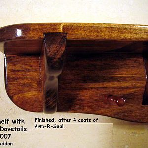 Wall Shelf - with Sliding Dovetails