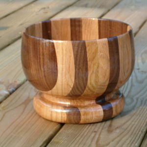 Oak and Walnut Bowl