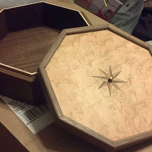 Octagon Walnut Box