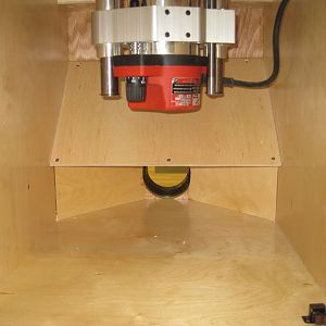 New router table - inside the cabinet