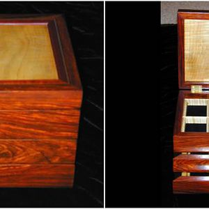 Cocobolo & Curly Maple Jewelry Box