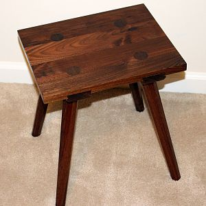 Black Walnut Moravian Stool
