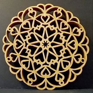 Heart Trivet - pattern by Charles Hand
