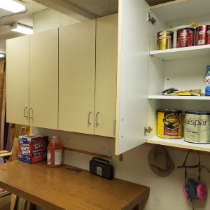 Cabinets finishing room