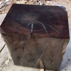 Eucalyptus block end table
