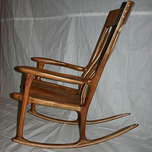 Quarter-sawn and Spalted Sycamore Rocker
