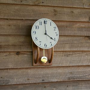 Walnut Arts and craft Clock