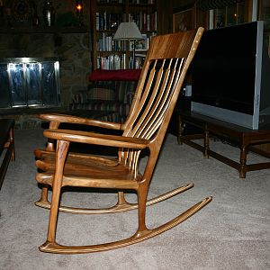 Quarter-sawn/spalted Sycamore-Maloof style rocker