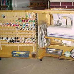 Sewing cabinet open base