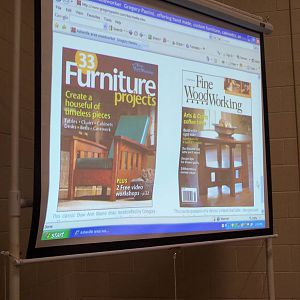 Greg Paolini on the cover of Fine Woodworking
