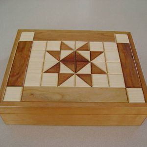 Quilted Cherry and Maple Box