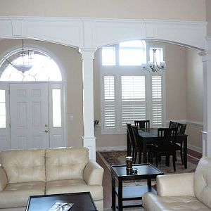 Entry/dining rm archways