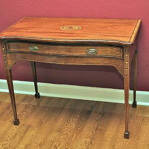 Federal Style Bow Front Table