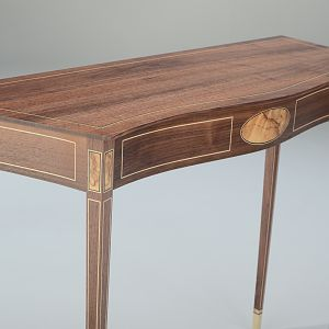 Walnut Serpentine Front Table