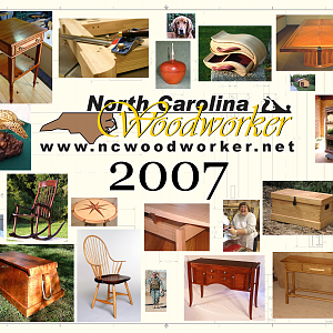 2007 NC Woodworker Calendar Cover