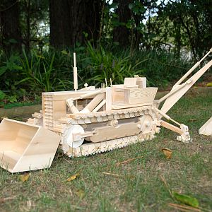 Wooden Backhoe
