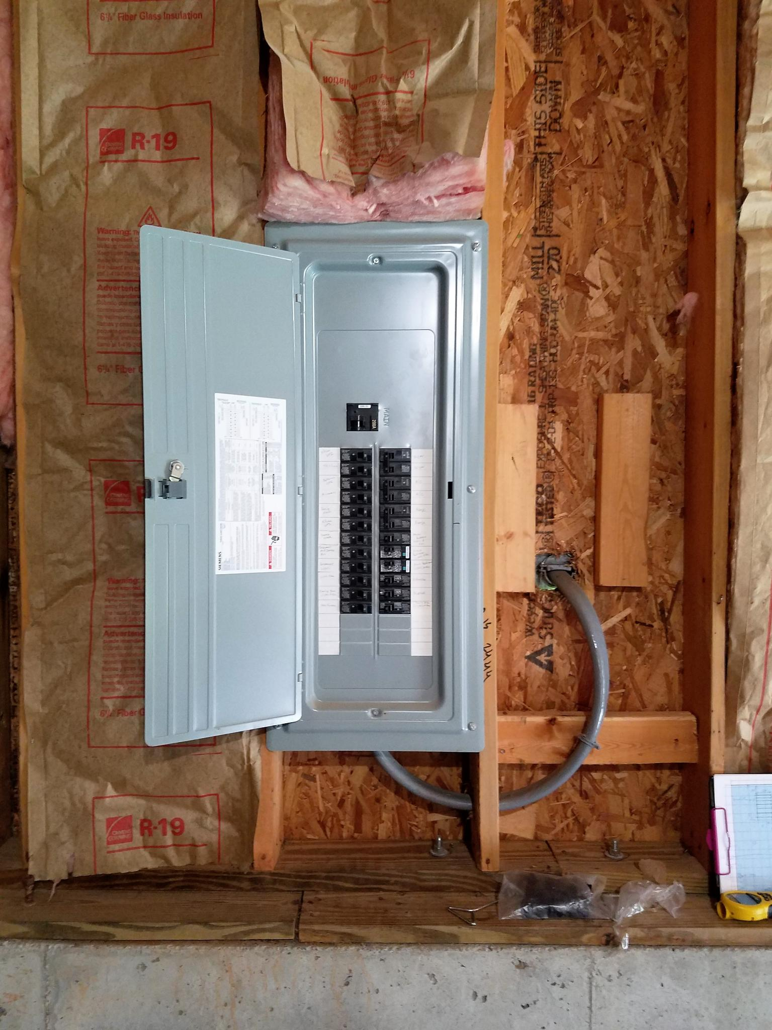 Sub Panel Rough Electrical Inspection Nc Woodworker