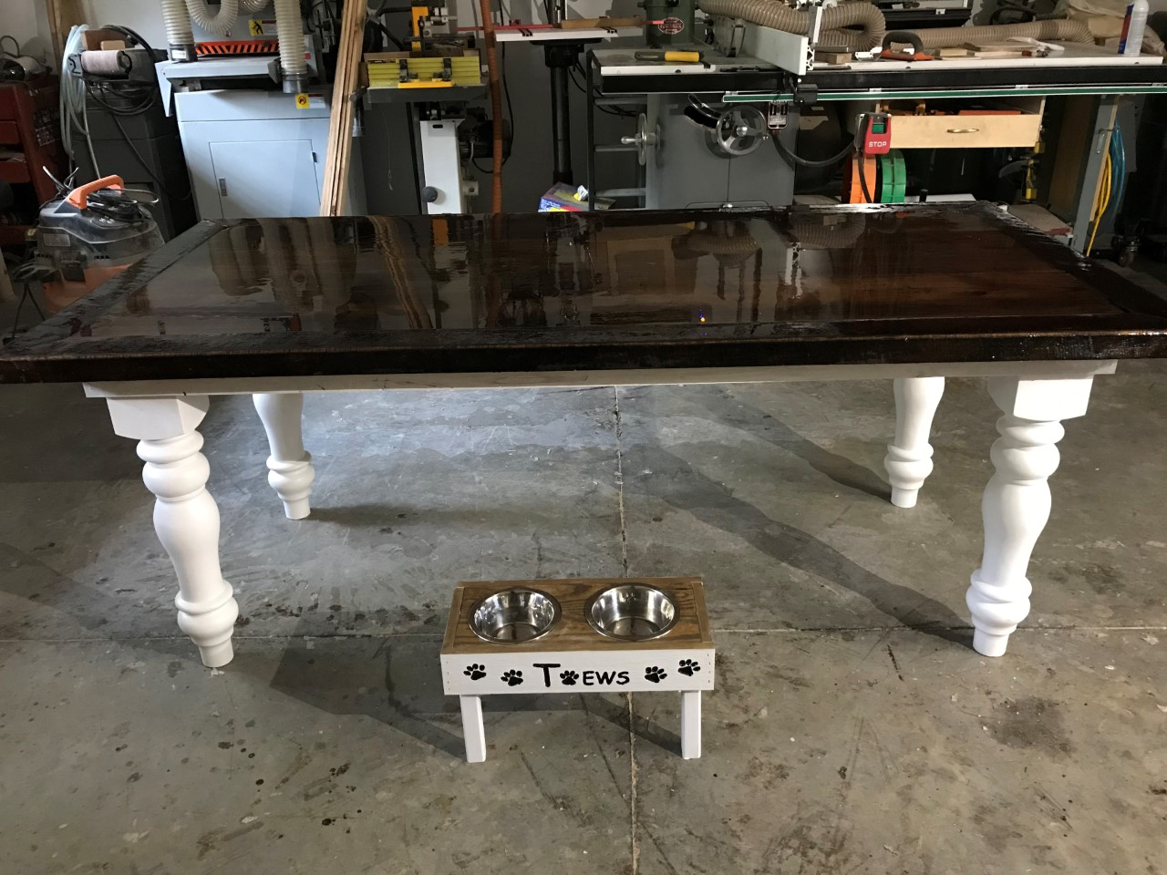 _Barnwood table and matching doggie diner 2.jpg
