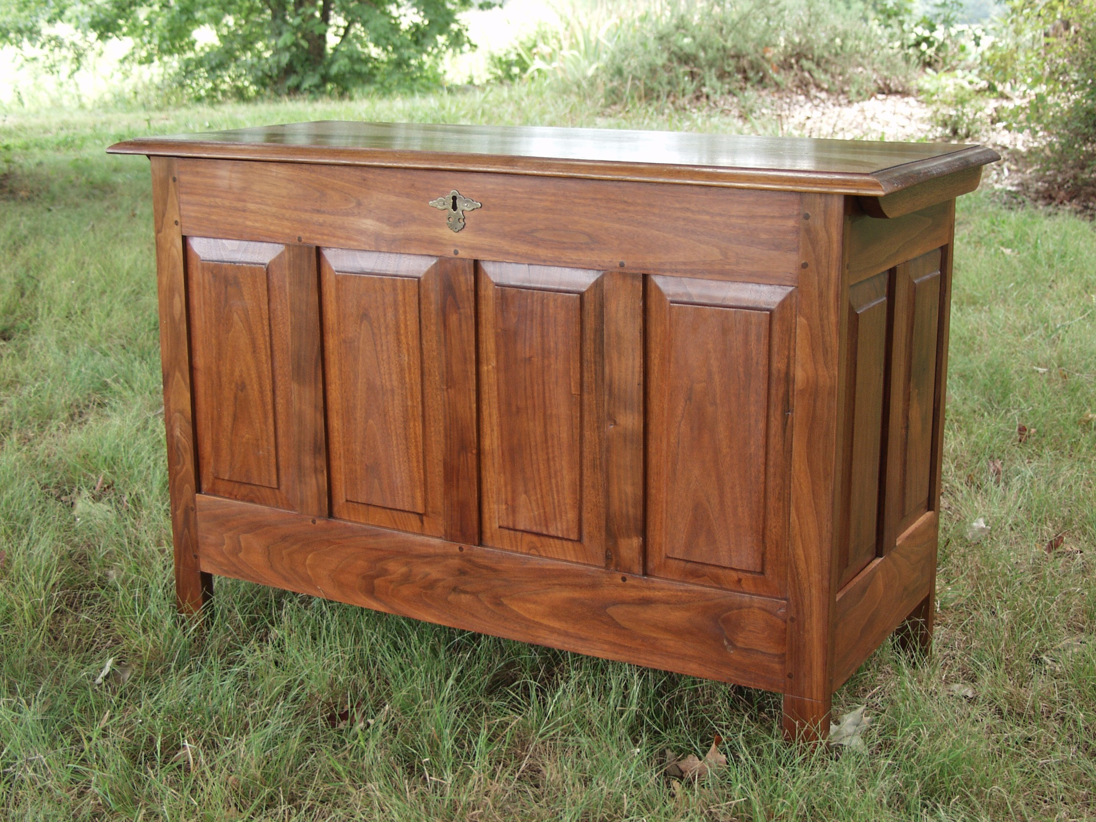 walnut blanket chest